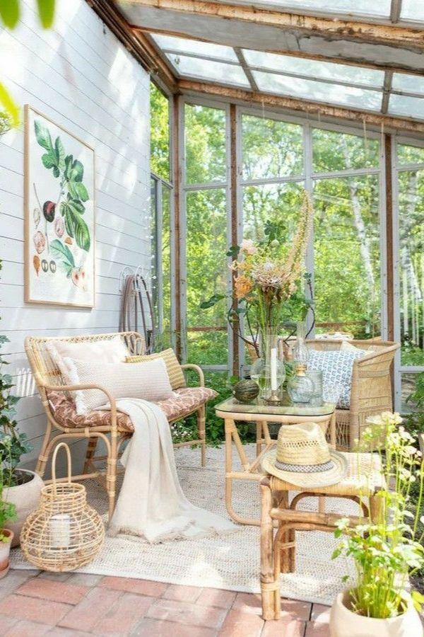 cozy glass patio