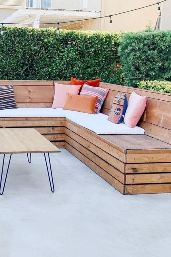wood patio furniture bench